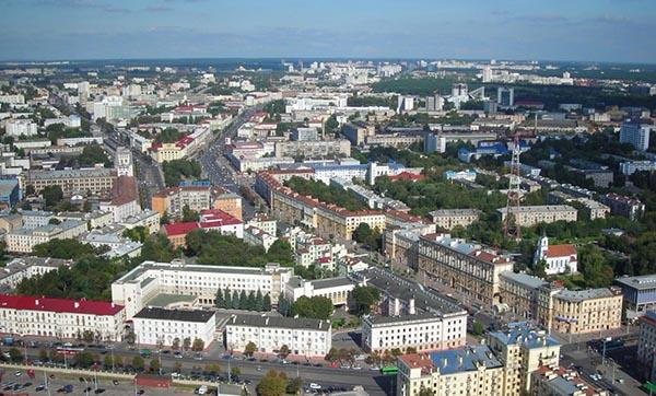 Минск с высоты телевышки